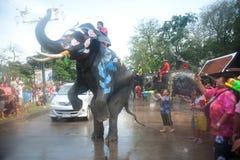 вода потехи празднества слона Стоковые Изображения