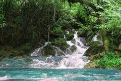 вода пропуская на утесе в заводи горы естественный ландшафт st Стоковые Изображения