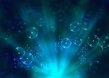 вода пузырей Стоковое Изображение RF
