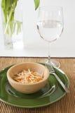 вода салата coleslaw стеклянная стоковое фото