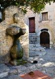 вода села фонтана eze Стоковая Фотография