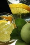 вода соды лимона льда кубиков Стоковая Фотография