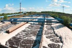 вода станции нечистот Стоковая Фотография
