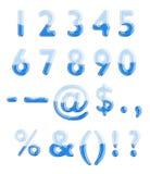 вода стекла алфавита стоковые изображения rf