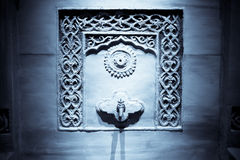 вода стены faucet Стоковая Фотография