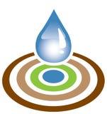 вода цели падения Стоковая Фотография