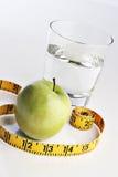 вода яблока стеклянная зеленая Стоковое Изображение