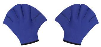 вода aerobics изолированная перчатками Стоковая Фотография