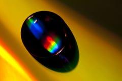 вода cd падения диска лежа Стоковое Изображение