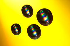вода cd падения диска лежа Стоковое Изображение RF