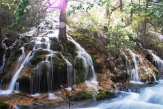 вода jiuzhai Стоковые Изображения