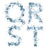 вода qrst падения алфавита Стоковое Изображение