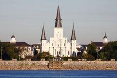 вода st louis New Orleans собора Стоковая Фотография RF