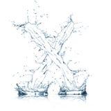 вода x письма алфавита Стоковое Изображение