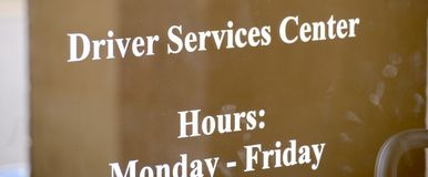Водительские права разбивочное DMV стоковые фотографии rf