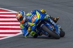 Водитель Алекс Rins Энергия Grand Prix изверга Каталонии MotoGP стоковая фотография rf