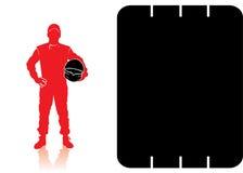 Водитель гоночной машины иллюстрация вектора
