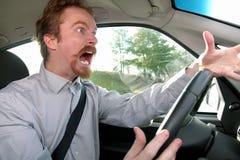 водитель сумашедший Стоковая Фотография