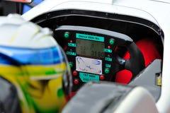 Водитель участвуя в гонке автомобиля в следе гонки Monza Стоковое Фото