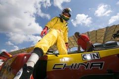 водитель фарфора автомобиля a1 выходит его команда tung штыря ho Стоковое Фото
