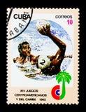 Водное поло, центральное американское и карибское serie игр, около 19 Стоковое Фото