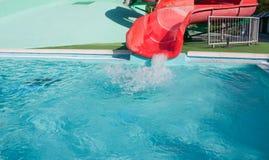 Водные горки в аквапарк Стоковые Фотографии RF