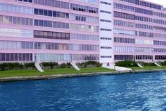 водный путь pompano florida здания пляжа розовый Стоковые Фотографии RF