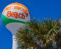 Водонапорная башня шарика пляжа Pensacola стоковое изображение rf