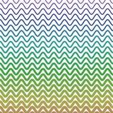 Водообильные волны формируя картину зигзага в других цветах Стоковое фото RF