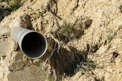 Водоотводная труба на стене стоковая фотография