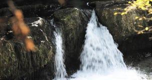 Водопады в каньоне Martvili, Georgia Река Abasha ландшафта Естественный памятник расположен в деревне Inchkhuri сток-видео