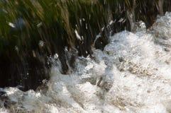 Водопады в лете Ясность и свежая вода падают вниз Подкраски зеленого и белого Fotography сделало с длинной врем-выдержкой стоковая фотография