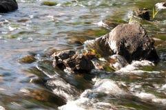 Водопады в лете Ясность и свежая вода падают вниз Подкраски зеленого и белого Fotography сделало с длинной врем-выдержкой стоковые фото