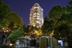 водопады здания стоковое изображение