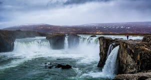 Водопады земли льда и огня!! Стоковое фото RF