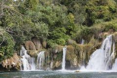 Водопады национального парка Krka в Далмации Стоковые Изображения RF