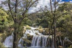Водопады национального парка Krka в regoion Далмации Хорватии Стоковые Изображения RF