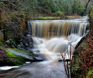 Водопады на воде Pendle стоковые фотографии rf