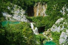 Водопады на Plitvice в Хорватии Стоковое Изображение