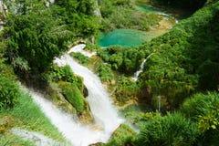 Водопады на Plitvice в Хорватии Стоковое Фото