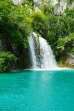 Водопады на Plitvice в Хорватии Стоковые Изображения
