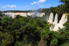 Водопады Iguasu ареальных стоковое фото rf