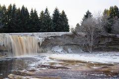 Водопады Jägala, северная Эстония стоковые фото