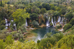 водопады kravica Боснии - herzegovina Стоковые Изображения RF