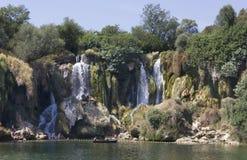 Водопады Kravica в Босния и Герцеговина Стоковое Фото