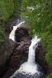водопады northwoods стоковые изображения rf