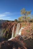 водопады ouzoud Марокко Стоковая Фотография