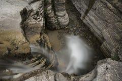 Водопады Papingo, Греция, остров Cyclade Стоковая Фотография