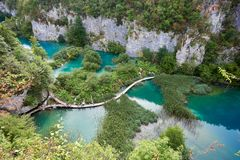 водопады plitvice национального парка озер Хорватии sostavtsy стоковое фото