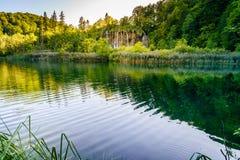 водопады plitvice национального парка озер Хорватии sostavtsy Стоковая Фотография